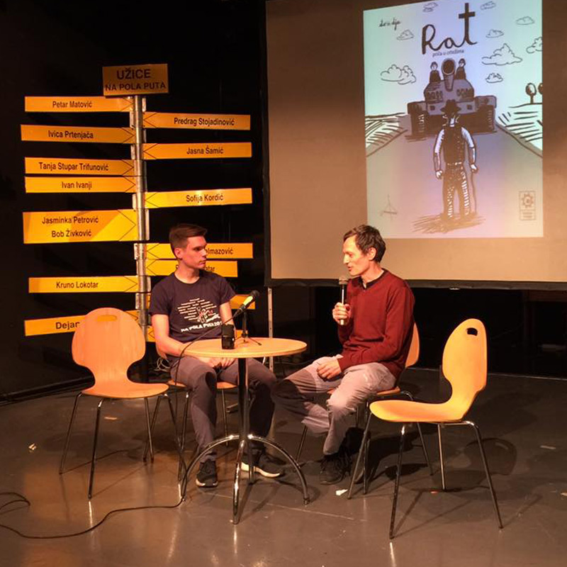 photo from the 14th International Literary Festival, Užice, showcasing Rat